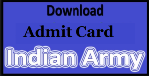 indian army ssc admit card