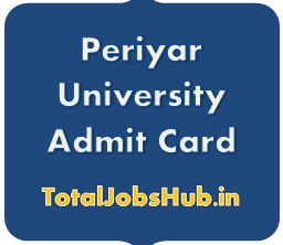Periyar University Admit Card
