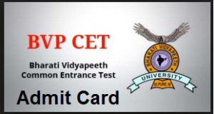 bvp cet admit card