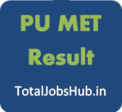 PU MET Result 2018 Punjab Management Entrance Test Cut Off