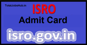 isro technician b admit card