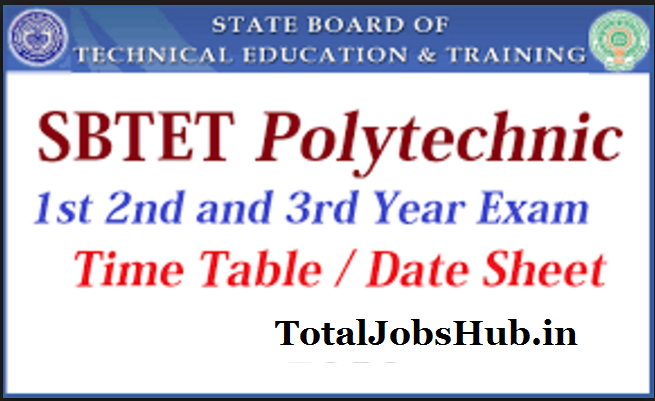 SBTET Time Table 2019 Oct/Nov TS/AP Diploma Exam Schedule