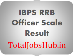 IBPS RRB Officer Scale 1 Result