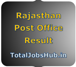Rajasthan Post Office Result