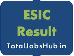 ESIC UDC MTS Result 2019 esic.nic.in Steno Cut Off Marks