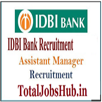 idbi bank assistant manager recruitment 2018