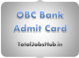 obc bank admit card