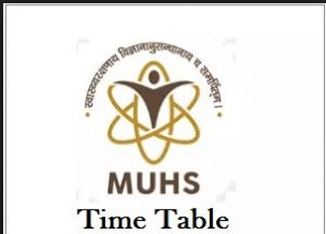 muhs nashik time table