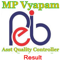 MP Vyapam Assistant Quality Controller Result