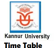 kannur university time table