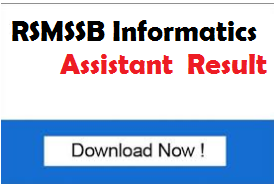 RSMSSB Information Assistant Result 2018 RAJ IA Exam Cut off