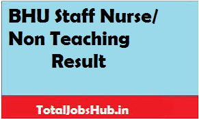 bhu staff nurse result
