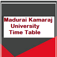 Madurai Kamaraj University Time Table