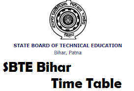 SBTE Bihar Time Table
