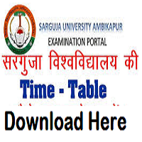 sarguja university time table
