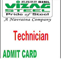 vizag steel plant technician admit card