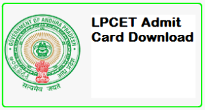 LPCET Admit Card