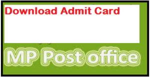 MP Post Office Admit Card