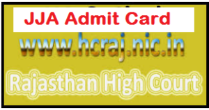 Rajasthan High Court JJA admit card
