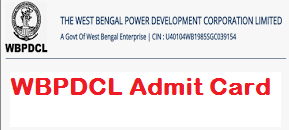 WBPDCL Admit Card