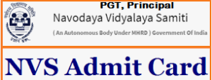 nvs pgt admit card
